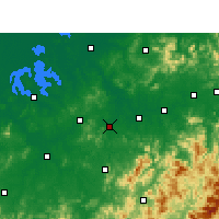 Nearby Forecast Locations - Yujiang - Carte