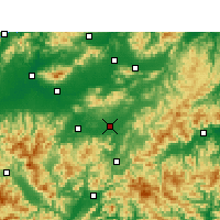 Nearby Forecast Locations - Yongkang - Carte