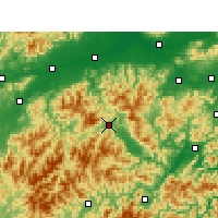 Nearby Forecast Locations - Suichang - Carte