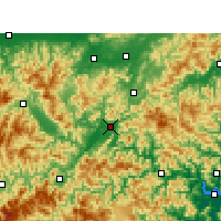 Nearby Forecast Locations - Lishui - Carte