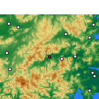 Nearby Forecast Locations - Xianju - Carte