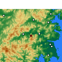 Nearby Forecast Locations - Kuocangshan - Carte