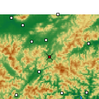 Nearby Forecast Locations - Jinyun - Carte