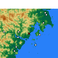 Nearby Forecast Locations - Yueqing - Carte