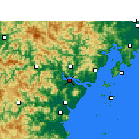 Nearby Forecast Locations - Wenzhou - Carte