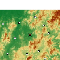 Nearby Forecast Locations - Lichuan - Carte