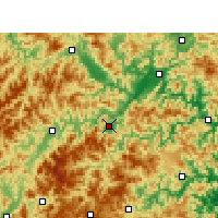 Nearby Forecast Locations - Yunhe - Carte