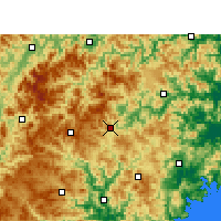 Nearby Forecast Locations - Xian de Taishun - Carte