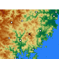 Nearby Forecast Locations - Zherong - Carte