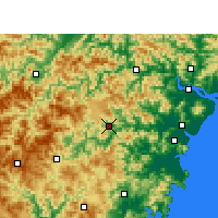 Nearby Forecast Locations - Xian de Wencheng - Carte