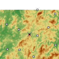 Nearby Forecast Locations - Ninghua - Carte