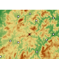 Nearby Forecast Locations - Mingxi - Carte