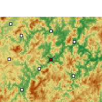 Nearby Forecast Locations - Sha - Carte