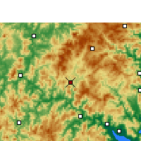 Nearby Forecast Locations - Gutian - Carte