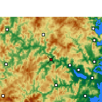 Nearby Forecast Locations - Minqing - Carte