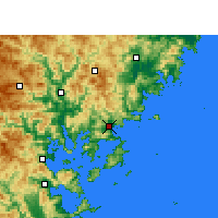 Nearby Forecast Locations - Xiapu - Carte