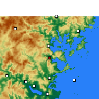 Nearby Forecast Locations - Luoyuan - Carte