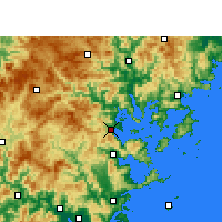 Nearby Forecast Locations - Ningde - Carte
