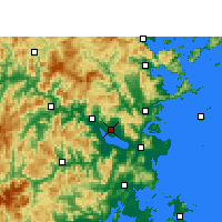 Nearby Forecast Locations - Fuzhou - Carte