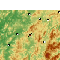Nearby Forecast Locations - Changting - Carte