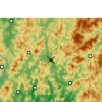 Nearby Forecast Locations - Shanghang - Carte