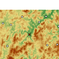 Nearby Forecast Locations - Yong'an - Carte