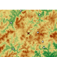 Nearby Forecast Locations - Datian - Carte