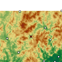 Nearby Forecast Locations - Longyan - Carte