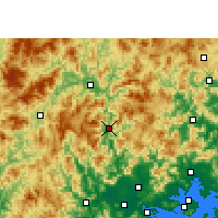 Nearby Forecast Locations - Hua'an - Carte