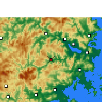 Nearby Forecast Locations - Yongtai - Carte