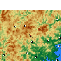 Nearby Forecast Locations - Dehua - Carte