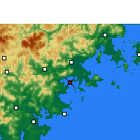 Nearby Forecast Locations - Xiuyugang - Carte