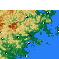 Nearby Forecast Locations - Putian - Carte