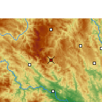 Nearby Forecast Locations - Xian de Lingyun - Carte