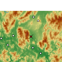 Nearby Forecast Locations - Fuchuan - Carte