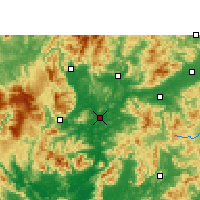 Nearby Forecast Locations - Shaoguan - Carte