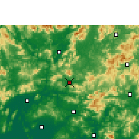 Nearby Forecast Locations - Fogang - Carte