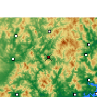 Nearby Forecast Locations - Dapu - Carte