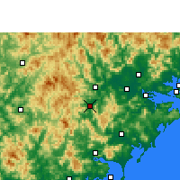 Nearby Forecast Locations - Xian de Pinghe - Carte