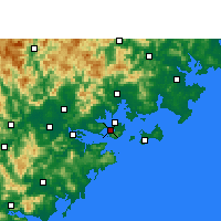Nearby Forecast Locations - Xiamen - Carte