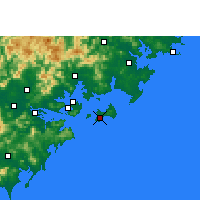 Nearby Forecast Locations - Jinshan/FUJ - Carte