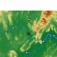 Nearby Forecast Locations - Wuxuan - Carte
