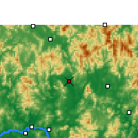 Nearby Forecast Locations - Xindu/GXA - Carte
