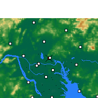 Nearby Forecast Locations - Canton - Carte