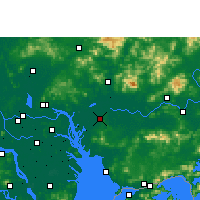 Nearby Forecast Locations - Dongguan - Carte