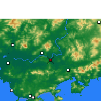 Nearby Forecast Locations - Huizhou - Carte