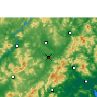 Nearby Forecast Locations - Wuhua - Carte