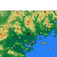 Nearby Forecast Locations - Chaozhou - Carte
