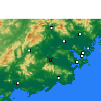 Nearby Forecast Locations - Puning - Carte