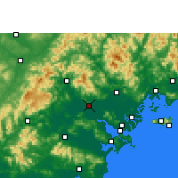 Nearby Forecast Locations - Jieyang - Carte